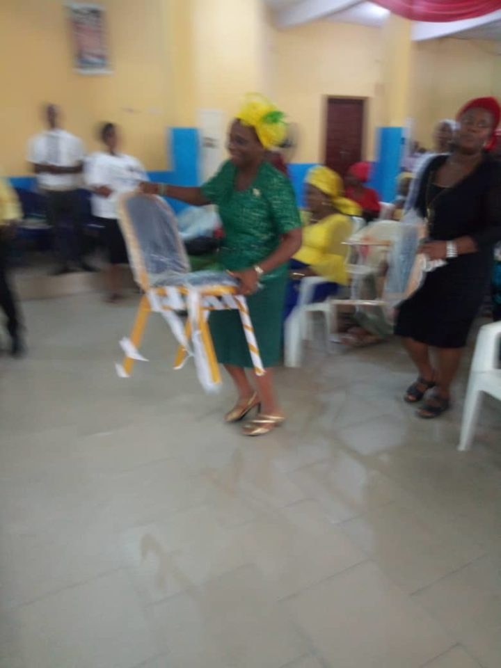 Presentation of new chairs to the Zonal HQs by the Overcomer Women's fellowship